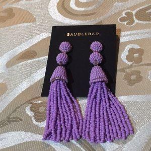 BaubleBar purple beaded earrings
